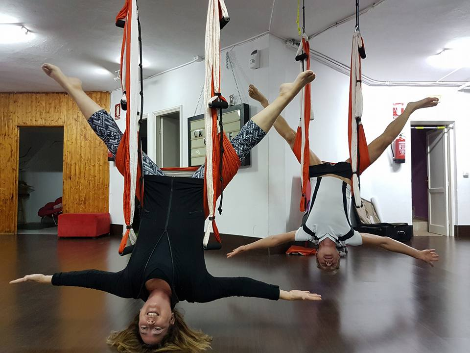 Inverted aerial yoga