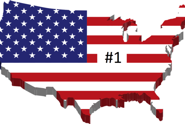 US Map as a flag