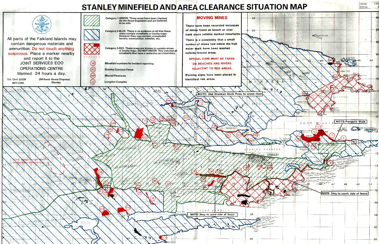 Stanley area minefield map