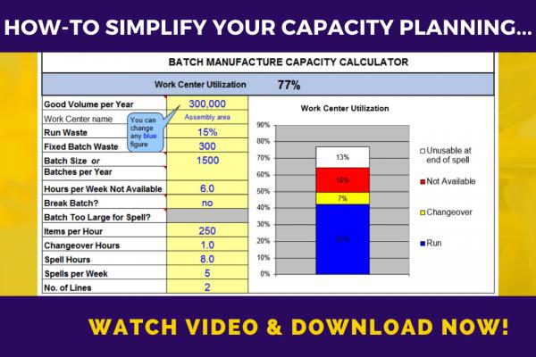 Capacity planner demo model