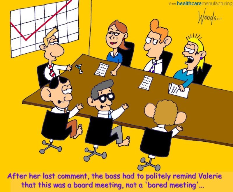 Board meeting cartoon